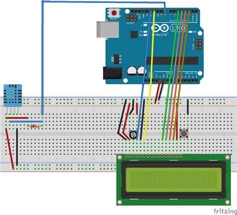portable arduino temphumidity sensor  lcd arduino