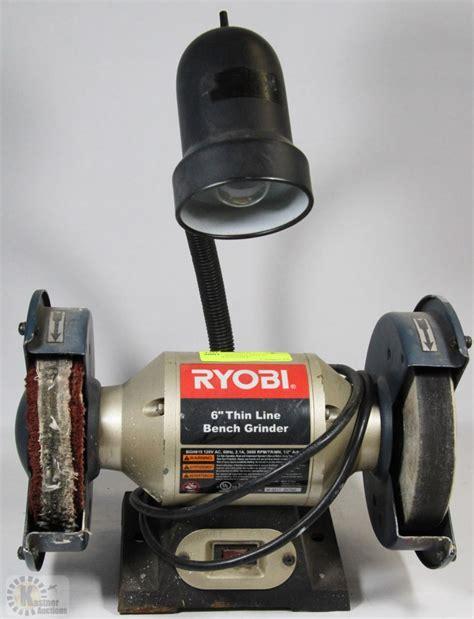 ryobi 6 inch bench grinder ryobi 6 quot thin line bench grinder polisher