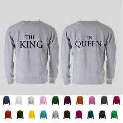 his and hers ring set the king his premium quality sweatshirt great