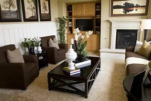 Elegance black brown living room furniture designs ideas for Living room color schemes dark brown furniture