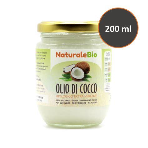 olio di cocco biologico alimentare olio di cocco biologico vergine 200 ml crudo e