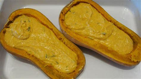 cuisiner les courges courge butternut au paprika à la crème fraiche et à la