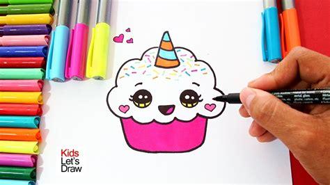 c 243 mo dibujar un cupcake unicornio f 225 cil paso a paso how to draw a unicorn cupcake easy and