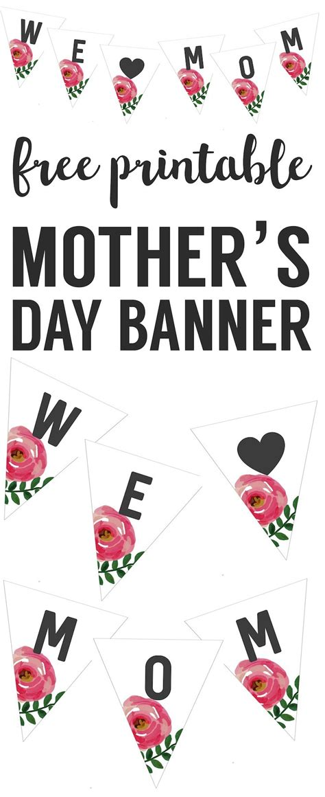 mothers day banner  printable paper trail design