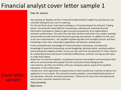 financial analyst cover letter uk financial analyst cover letter