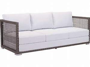 zuo outdoor coronado aluminum wicker sofa in cocoa light With coronado outdoor sectional sofa black
