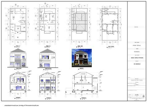 gambar denah  rumah  lantai minimalis