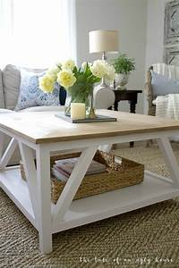 diy modern farmhouse coffee table sincerely marie designs With modern square coffee table designs