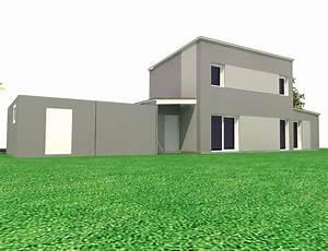 maison cubique a toit plat et ossature bois nos projets With maison cubique toit plat