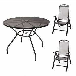 Gartenmöbel Set Runder Tisch : gartenm bel metall 1 x tisch rund 100x72 2 x stuhl set ~ Bigdaddyawards.com Haus und Dekorationen