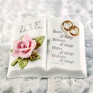 Wedding ring love verse bible wedding cake topper for Wedding ring meaning bible