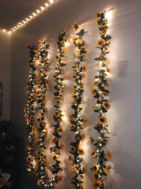 sun flower hanging wall decors green garland bohemian