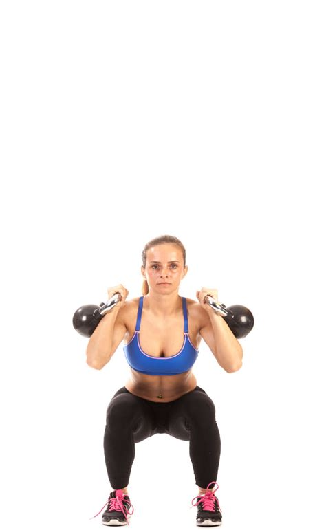 fitness thruster kettlebell workout exercise
