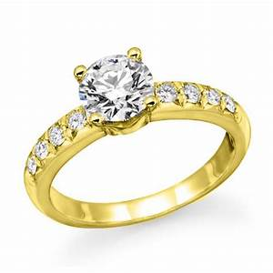 1 ct round diamond solitaire engagement ring in 18k for 1 ct wedding ring