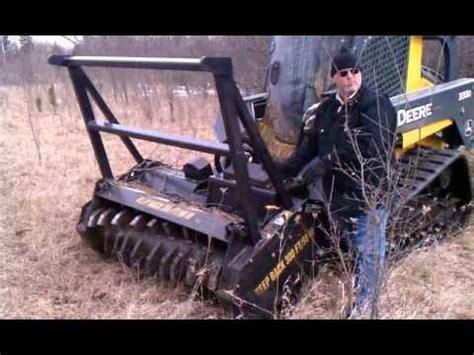 john deere  compact track loader  mulching head walkaround youtube