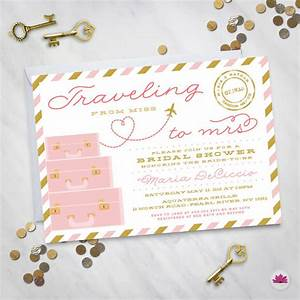 traveling from miss to mrs destination wedding bridal With bridal shower invitations for destination wedding