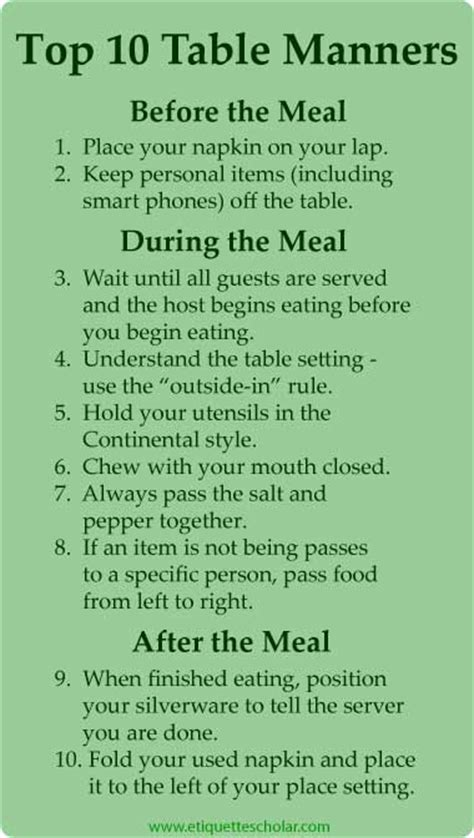 seriously simple dining etiquette guide american and what 39 s some good manner you wish more people would