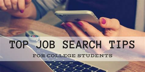 Top Job Search Tips For College Students