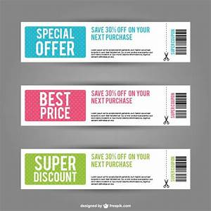 Discount coupons Vector   Free Download