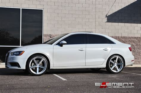 rohana rc22 silver machined wheels on 2015 audi a3 w