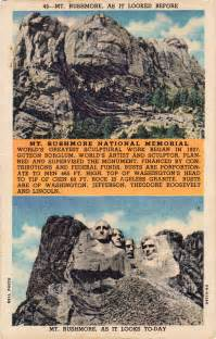 mt rushmore before and after postcard roundup