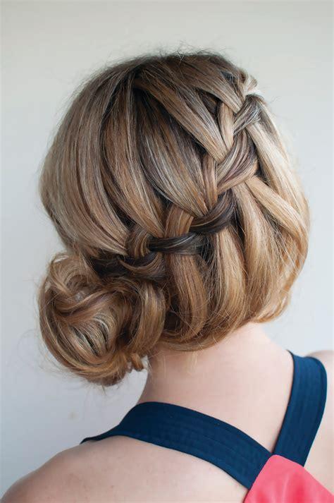 waterfall bun extract  braids buns  twists