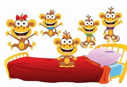 Monkeys Five Puzzle Songs Song Simple Jugar