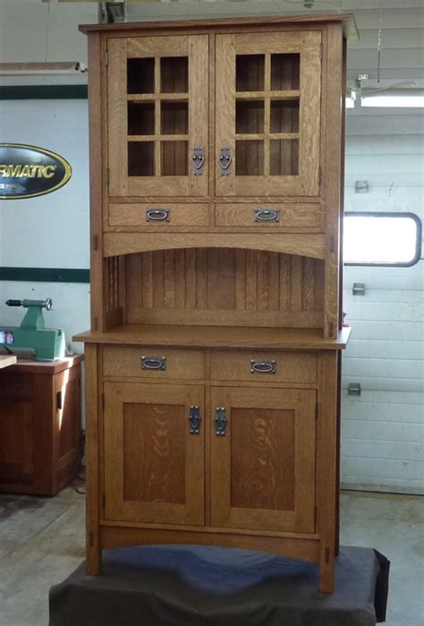 narrow kitchen hutch small mission style buffet and hutch finewoodworking
