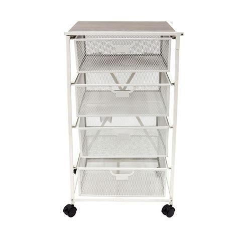 Origami Origami 4 Drawer Storage Cart in White DFS 04