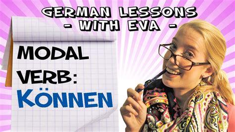 german lesson   modal verb koennen youtube