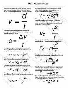 Mcat Physics Formulas List  U0026 Tips To Solve Problems Easily
