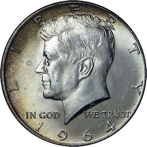 value of kennedy half dollars 10 face value 1964 kennedy half dollars 90 silver 20 coin roll circulated ebay