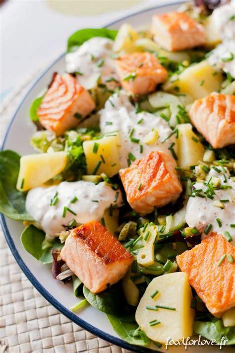 salade au saumon pommes de terre et concombre marin 233