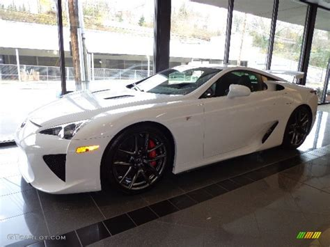 lexus coupe white whitest white 2012 lexus lfa coupe exterior photo