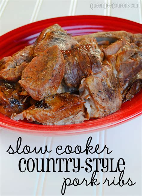Slow Cooker Crockpot Country Style Pork Ribs Recipe