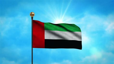 Flag Of The United Arab Emirates Stock Footage Video