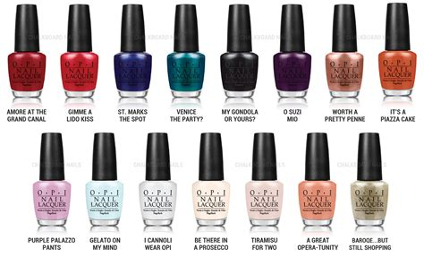 Opi Nail Polish Color Names 2017
