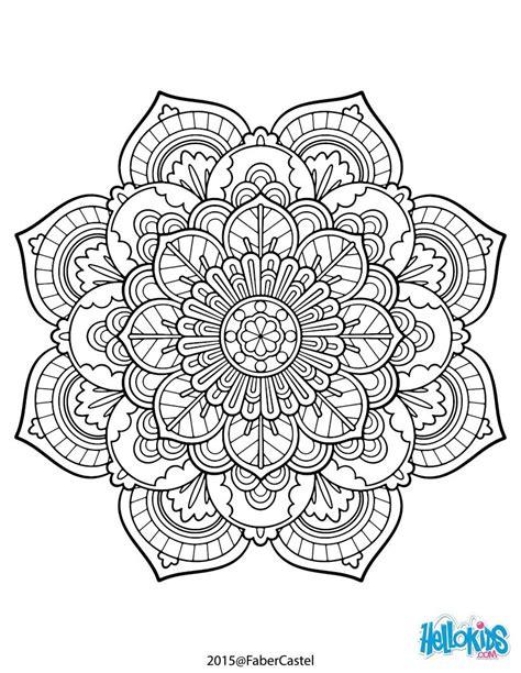 mandalas coloring mandala vintage coloring pages hellokids