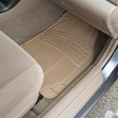 4pc rubber liner for honda accord floor mats beige all
