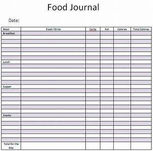 9 best images of printable food journal template journal for Food logs templates