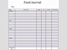 Food Journal Template Excel calendar template excel