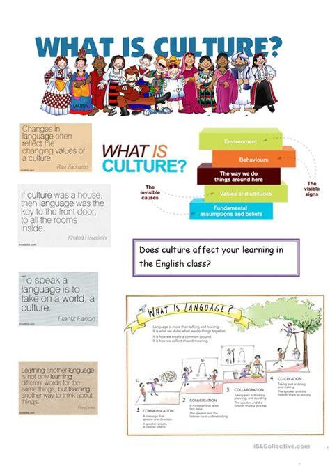 culture  language worksheet  esl printable