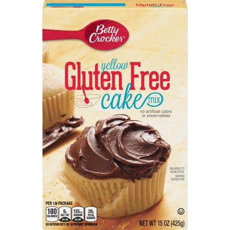 betty crocker baking mix gluten  cake mix yellow