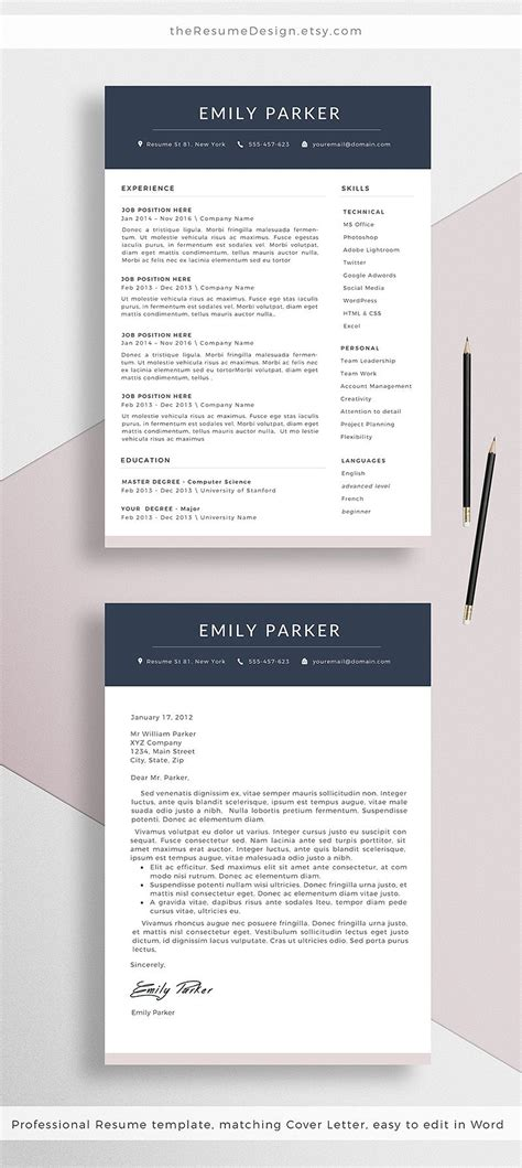 Creating Cv Template Word by Our New Professional Resume Template Cover Letter For