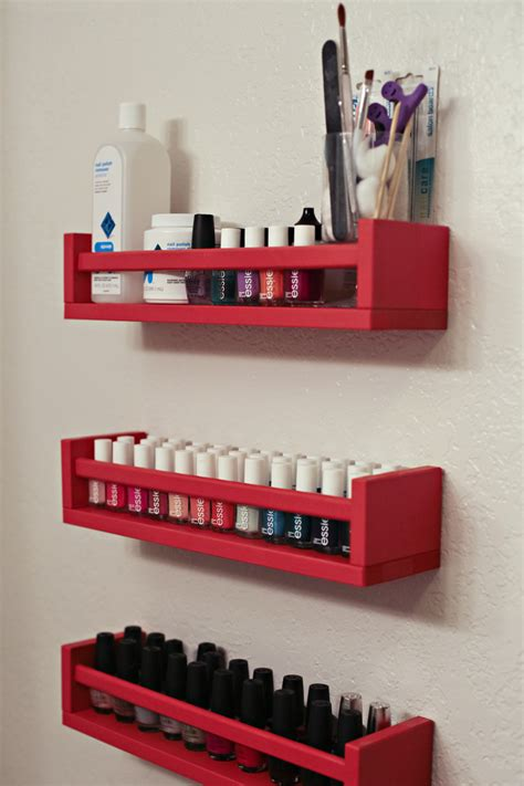 Spice Rack For Nail by Diy Ish Nail Rack This S Gonna Snap