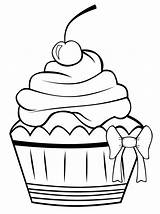 Coloring Cupcakes Pages Cupcake Colouring Printable Cake Sheet Sheets Cup Drawing Drawings Cute Pattern Birthday Outline Cakes sketch template
