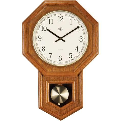 uttermost clock radio controlled schoolhouse oak wall clock 801 403o