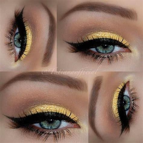 beautiful yellow makeup  yellow eyes  pinterest