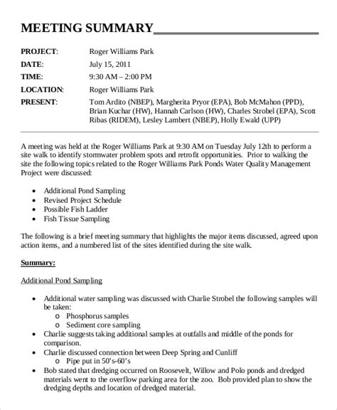 meeting summary template 18 corporate minutes template free sle exle format free premium templates