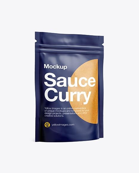 Free all free mockups brochures. Matte Transparent Stand-Up Pouch W/ Curry Sauce Mockup ...